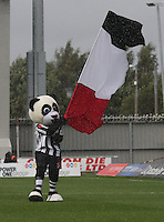 Paisley Panda flying the flag in the St Mirren v Heart of Midlothian Clydesdale Bank Scottish Premier League match played at St Mirren Park, Paisley on 15.9.12.