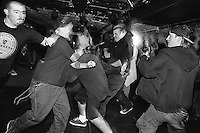 People in the mosh pit during Zero Bull Shit at La Val's Pizza.<br />