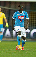 Napoli's Kalidou Koulibaly  during the  italian serie a soccer match,between SSC Napoli and Torino      at  the San  Paolo   stadium in Naples  Italy , January 07, 2016