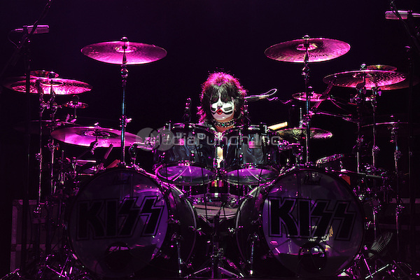HOLLYWOOD FL - MARCH 17 :  Eric Singer of KISS performs at Bank Atlantic on March 17, 2011 in Hollywood, Florida. © mpi04/MediaPunch Inc..