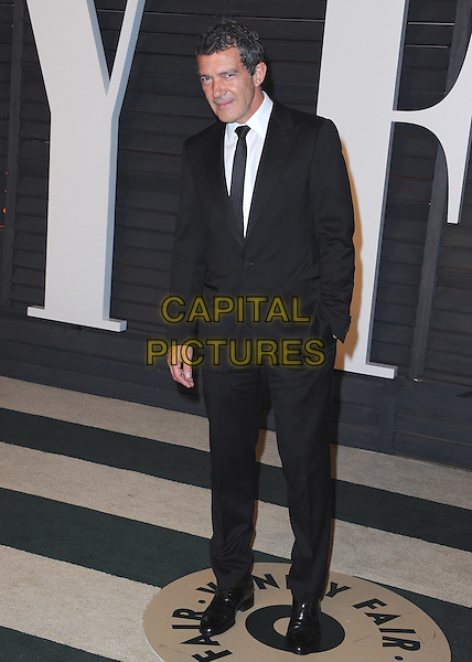 BEVERLY HILLS, CA - FEBRUARY 22:   Antonio Banderas at the 2015 Vanity Fair Oscar Party at the Wallis Anneberg Center for the Performing Arts on February 22, 2015 in Beverly Hills, California. <br /> CAP/MPI/PGSK<br /> &copy;PGSK/MediaPunch/Capital Pictures