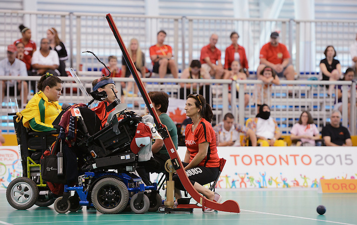Toronto, ON - Aug 11 2015 - Eric Bussiere competes in the Individual BC3 - Semifinal Match 6 in the Abilities Centre during the Toronto 2015 Parapan American Games  (Photo: Matthew Murnaghan/Canadian Paralympic Committee)