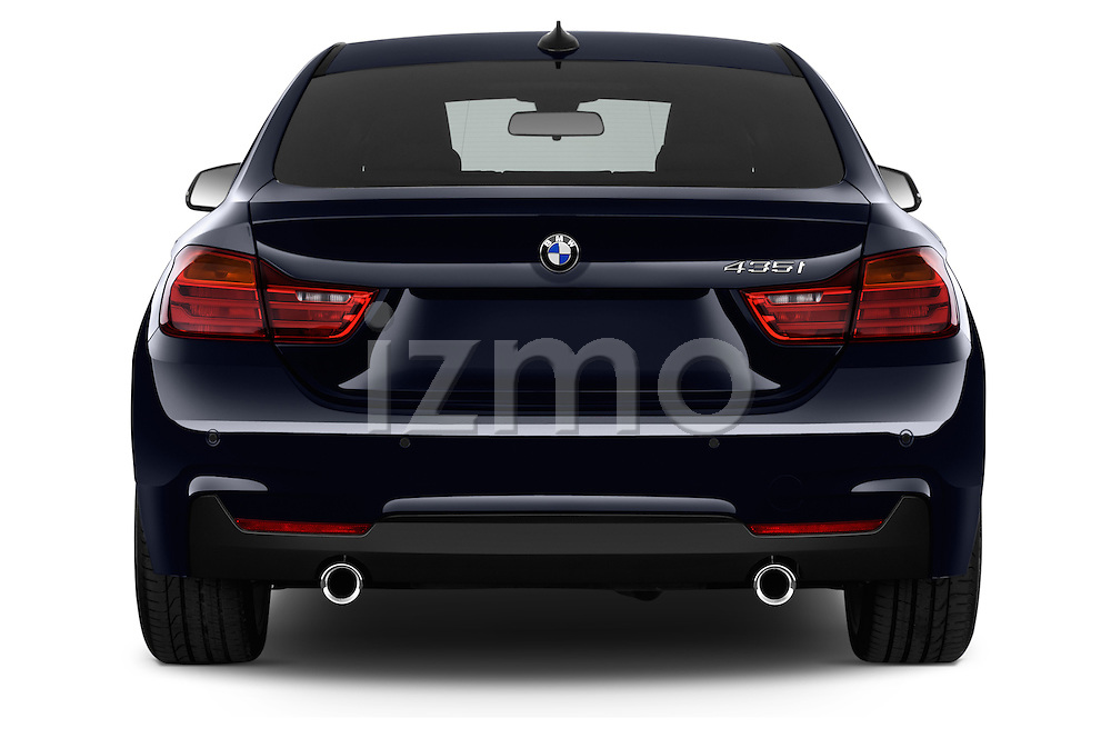 Straight rear view of a 2015 BMW SERIES 4 M Sport 2WD AT 5 Door Hatchback 2WD Rear View  stock images