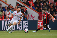 Sheffield United's Enda Stevens (left) under pressure from Bournemouth's Adam Smith (right) <br /> <br /> Photographer David Horton/CameraSport<br /> <br /> The Premier League - Bournemouth v Sheffield United - Saturday 10th August 2019 - Vitality Stadium - Bournemouth<br /> <br /> World Copyright © 2019 CameraSport. All rights reserved. 43 Linden Ave. Countesthorpe. Leicester. England. LE8 5PG - Tel: +44 (0) 116 277 4147 - admin@camerasport.com - www.camerasport.com