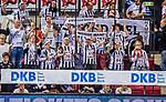 """Mitgereiste Fans des THW Kiel: """"WEISSE WAND"""" / TVB 1898 Stuttgart - THW Kiel / DHB Pokal Viertelfinale / HBL / 1.Handball-Bundesliga / SCHARRrena / Stuttgart Baden-Wuerttemberg / Deutschland beim Spiel im DHB Pokal Viertelfinale, TVB 1898 Stuttgart - THW Kiel.<br /> <br /> Foto © PIX-Sportfotos *** Foto ist honorarpflichtig! *** Auf Anfrage in hoeherer Qualitaet/Aufloesung. Belegexemplar erbeten. Veroeffentlichung ausschliesslich fuer journalistisch-publizistische Zwecke. For editorial use only."""