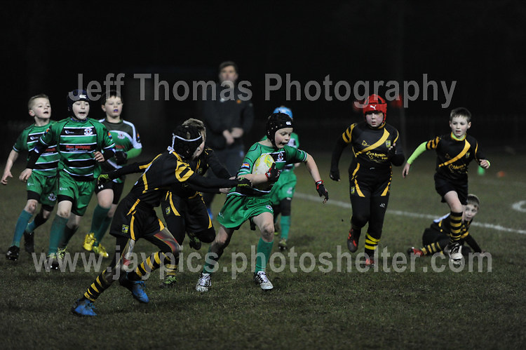 RTB Steelers v Risca Mini under 9's rugby at  Eugene Cross Park, Ebbw Vale.
