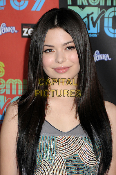 MIRANDA COSGROVE .MTV Los Premios Awards 2009 held at the Gibson Amphitheatre, Universal City, California, USA, 15th October 2009..portrait headshot grey gray green beaded sleeveless bronze .CAP/ADM/BP.©Byron Purvis/Admedia/Capital Pictures