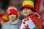 Young Wales fans during the FIFA World Cup Qualifying match at the Cardiff City Stadium, Cardiff. Picture date: November 12th, 2016. Pic Robin Parker/Sportimage