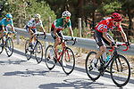 Chris Froome (GBR) Team Sky, Fabio Aru (ITA) Astana and Vincenzo Nibali (ITA) Bahrain-Merida during Stage 15 of the 2017 La Vuelta, running 129.4km from Alcal&aacute; la Real to Sierra Nevada. Alto Hoya de la Mora. Monachil, Spain. 3rd September 2017.<br /> Picture: Unipublic/&copy;photogomezsport | Cyclefile<br /> <br /> <br /> All photos usage must carry mandatory copyright credit (&copy; Cyclefile | Unipublic/&copy;photogomezsport)