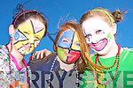 Looking colourful for the parade in Killarney on Tuesday were Sheila O'Connor, Laura Sandlykke and Sinead O'Connor......