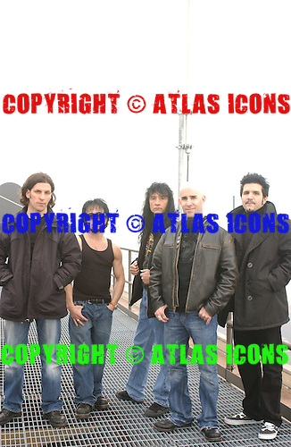 ANTHRAX;  Portrait Session, In New York City, .Photo Credit: Eddie Malluk/Atlas Icons.com