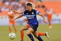 Houston, TX - Sunday June 19, 2016: Britanny Taylor, Denise O'Sullivan during a regular season National Women's Soccer League (NWSL) match between the Houston Dash and FC Kansas City at BBVA Compass Stadium.