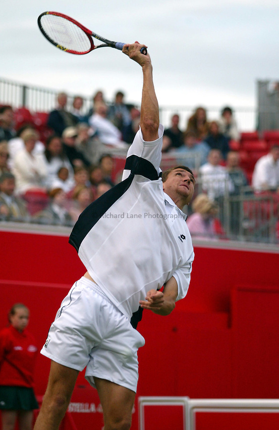 Photograph: Scott Heavey..Day 1 of the Stella Artois Championship at the Queens Club. 09/06/2003..Jan Vacek