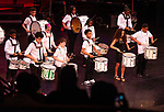 WATERBURY,  CT-052019JS13- North End Middle School students perform &quot;Drumline One&quot; and &quot;Stampede&quot; during the Waterbury Public School's Celebration Community Through the Arts II district-wide talent show held Monday at the Palace Theater in Waterbury. <br /> Jim Shannon Republican American