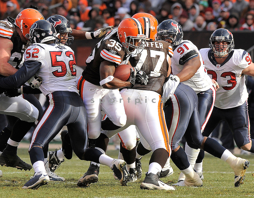 JEROME HARRISON, of the Cleveland Browns in action against the Houston Texans, during the Browns game  in Cleveland, OH  on November 23, 2008..Texans win 16-6