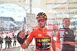 Race leader Primoz Roglic (SLO) Team Jumbo-Visma signs on before the start of Stage 3 of the 2019 UAE Tour, running 179km form Al Ain to Jebel Hafeet, Abu Dhabi, United Arab Emirates. 26th February 2019.<br /> Picture: LaPresse/Massimo Paolone | Cyclefile<br /> <br /> <br /> All photos usage must carry mandatory copyright credit (© Cyclefile | LaPresse/Massimo Paolone)