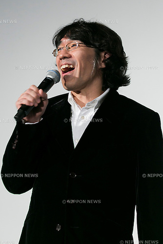 Director Takeoshi Sado speaks during a stage greeting for the movie ''WE ARE Perfume WORLD TOUR 3rd DOCUMENT'' at TOHO CINEMAS in Roppongi on October 24, 2015, Tokyo, Japan. Perfume's movie will be released in Japanese theaters on October 31. The screening is part of the 28th Tokyo International Film Festival which is one of the biggest film festivals in Asia and runs from October 22 to Saturday 31. (Photo by Rodrigo Reyes Marin/AFLO)