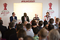 Picture by Charlie Forgham-Bailey/SWpix.com 13/07/2017 - International Rugby League - Rugby League World Cup 2021 - RLWC2017 Presentation at ALTITUDE LONDON, SKYLOFT Millbank Tower, London - The panel L-R Jon Dutton, Martin Offiah, Barbara Slater, Joe Coyd