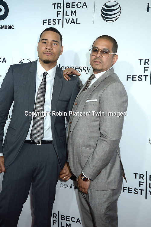 """Erik Parker and One9 attend the opening Night of the 2014 Tribeca Film Festival screening of """"Time Is Illmatic"""" on April 16, 2014 at the Beacon Theatre in New York City, USA."""