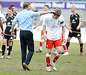10/04/2010   Copyright  Pic : James Stewart.sct_jsp22_falkirk_v_st_mirren  .::  FALKIRK MANAGER STEVEN PRESSLEY AND DARREN BARR AT THE END OF THE GAME ::  .James Stewart Photography 19 Carronlea Drive, Falkirk. FK2 8DN      Vat Reg No. 607 6932 25.Telephone      : +44 (0)1324 570291 .Mobile              : +44 (0)7721 416997.E-mail  :  jim@jspa.co.uk.If you require further information then contact Jim Stewart on any of the numbers above.........