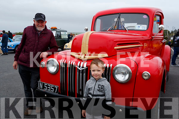 Cian O'Connor and Tom Glover pictured at the Blennerville Treshing Festival on Sunday.