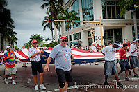 The Red, White and Blue takes center stage during the Fourth of July Parade along historic 5th Avenue South in Naples, Florida, USA on Saturday, July 3, 2010. Photo by Debi PIttman Wilkey
