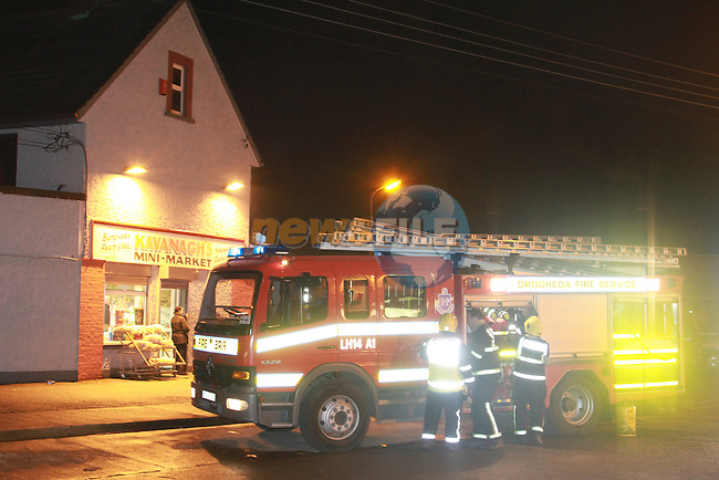 The scene of the Fire on Crushrod avenue on Friday evening, One occupant of the fire was removed to Hospital, One fire man was also removed with burns..Picture Fran Caffrey/Newsfile.ie