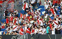 Peruanischer Fanblock - 09.09.2018: Deutschland vs. Peru, Wirsol Arena Sinsheim, Freundschaftsspiel DISCLAIMER: DFB regulations prohibit any use of photographs as image sequences and/or quasi-video.
