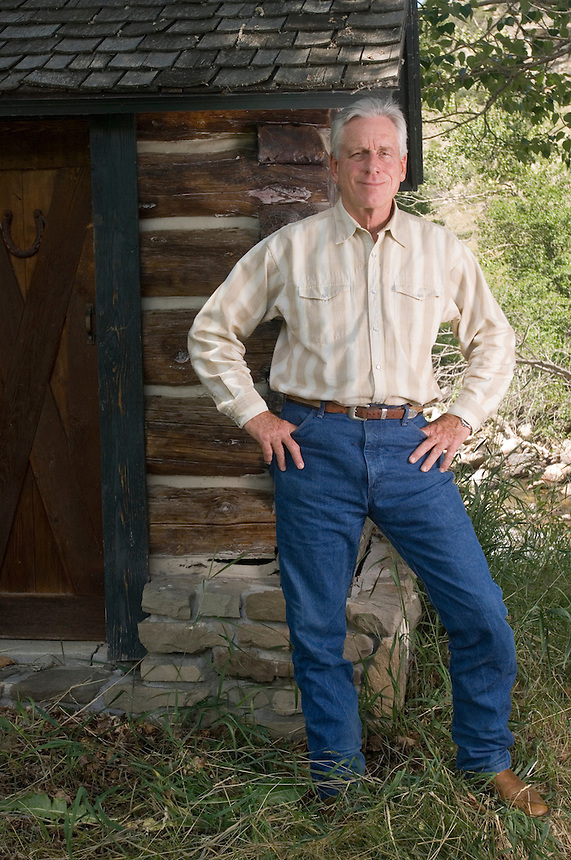 Author Tom McGuane at his home near McLeod, Mont., Tuesday July 11, 2006.