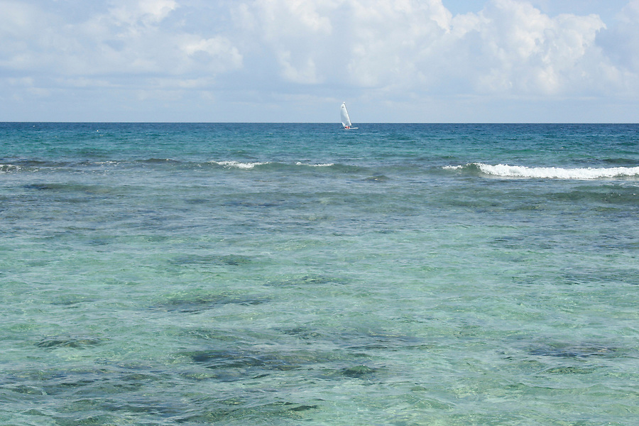 mexican carribean beaches waves pier sailboat rocks