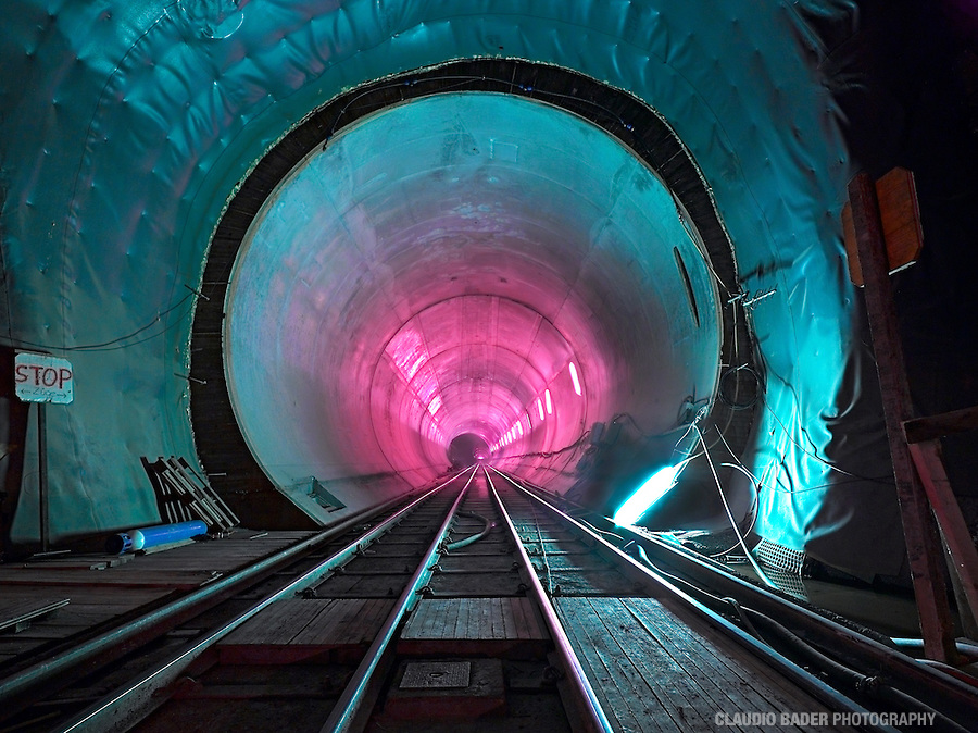 Switzerland,Schweiz; Ticino; Alptransit; NEAT; Gotthard Tunnel, Gottardo Tunnel Base, 57 km., Longest and deepest railway tunnel in the world, Ceneri Tunnel, Monte Ceneri