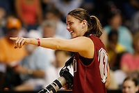 5 April 2008: Stanford Cardinal Michelle Harrison during Stanford's 2008 NCAA Division I Women's Basketball Final Four open practice at the St. Pete Times Forum Arena in Tampa Bay, FL.