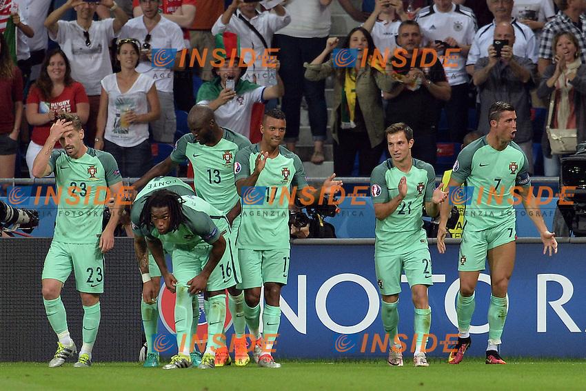 Esultanza gol Cristiano Ronaldo Goal celebration  Portugal<br /> Lyon 06-07-2016 Stade de Lyon Football Euro2016 Portugal - Wales / Portogallo - Galles Semi-finals / Semifinali <br /> Foto Frederic Chambert Panoramic / Insidefoto