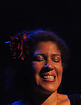 Rain Pryor singing Billie Holiday in rehearsal for her show  'Fried Chicken and Latkes'  on 7/19/2012 at The Actors Temple Theatre in New York City. ***EXCLUSIVE***