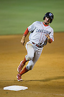 Herlis Rodriguez (33) of the Lakewood BlueClaws rounds third base during the game against the Kannapolis Intimidators at CMC-Northeast Stadium on May 16, 2015 in Kannapolis, North Carolina.  The BlueClaws defeated the Intimidators 9-7.  (Brian Westerholt/Four Seam Images)