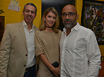 MIAMI, FL - MARCH 04: Stanley Guilbaud, Anya Brjevskaia and ,Charles Forbin attend the after party to the Miami Film Festival screening for 'Serenade for Haiti' at Tap Tap Restaurant on March 4, 2017 in Miami, Florida. ( Photo by Johnny Louis / jlnphotography.com )