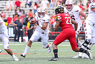 College Park, MD - September 15, 2018:Temple Owls fullback Rob Ritrovato (4) in action during the game between Temple and Maryland at  Capital One Field at Maryland Stadium in College Park, MD.  (Photo by Elliott Brown/Media Images International)