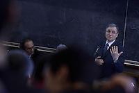 Roma, 27 Marzo 2015.<br /> Ignazio Visco governatore della Banca d'Italia.<br /> Commemorazione di Ezio Tarantelli nel trentesimo anniversario della sua uccisione da parte delle Brigate Rosse.<br /> Università La Sapienza , facoltà di Economia e Commercio.