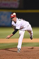 Tri-City ValleyCats pitcher Kevin Ferguson (22) delivers a pitch during a game against the Batavia Muckdogs on August 2, 2014 at Joseph L. Bruno Stadium in Troy, New  York.  Tri-City defeated Batavia 8-4.  (Mike Janes/Four Seam Images)