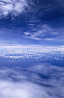 Sky viewed from a plane