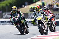 Johann Zarco of France and Monster Yamaha Tech 3 Team and Alvaro Bautista of Spain and PullandBear Aspar Team during the race of  MotoGP of Catalunya at Circuit de Catalunya on June 11, 2017 in Montmelo, Spain.(ALTERPHOTOS/Rodrigo Jimenez) (NortePhoto.com) (NortePhoto.com)