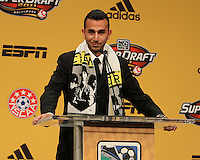 Justin Meram at the 2011 MLS Superdraft, in Baltimore, Maryland on January 13, 2010.