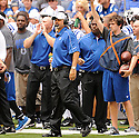 CHUCK PAGANO (HC),  of the Indianapolis Colts in action during the Colts preseason game against the St. Louis Rams on August 12, 2012 at Lucas Oil Stadium in Indianapolis, IN. The Colts beat the Rams 38-3.