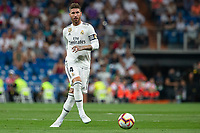 Sergio Ramos of Real Madrid during the match between Real Madrid v Getafe CF of LaLiga, 2018-2019 season, date 1. Santiago Bernabeu Stadium. Madrid, Spain - 19 August 2018. Mandatory credit: Ana Marcos / PRESSINPHOTO