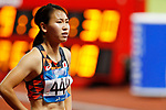 Chisato Fukushima (JPN), <br /> AUGUST 25, 2018 - Athletics : <br /> Women's 100m Qualification <br /> at Gelora Bung Karno Main Stadium <br /> during the 2018 Jakarta Palembang Asian Games <br /> in Jakarta, Indonesia. <br /> (Photo by Naoki Morita/AFLO SPORT)