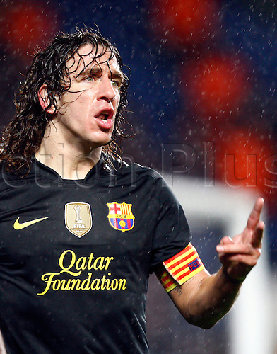 18.04.2012. Stamford Bridge, Chelsea, London. Carles Puyol of  FC Barcelona during the Champions League Semi Final 1st  leg match between Chelsea and Barcelona  at Stamford Bridge, Stadium on April 18, 2012 in London, England.............