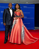 Omarosa Manigault and her husband, John Newman,  arrive for the 2018 White House Correspondents Association Annual Dinner at the Washington Hilton Hotel on Saturday, April 28, 2018.<br /> Credit: Ron Sachs / CNP<br /> <br /> (RESTRICTION: NO New York or New Jersey Newspapers or newspapers within a 75 mile radius of New York City)
