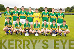 The Kerry B Team who took part in the Jeremiah Kelleher Tournament in Milltown/Castlemaine on Saturday wereMichael Walsh, Conor O'Leary, Conor O'Shea, Adam Leahy, Kyle Fitzgibbon, Padraig O'Sullivan, Jonathan Deane, back, Darragh O'Sullivan, Paudie Carroll, Tom Kelliher, Fionan Clifford, Andrew O'Connor, Kevin Bowler, James McCarrick and Tony Brosnan. ..........................................................................................