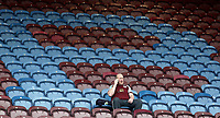 A Burnley fan arrives early ahead of kick-off<br /> <br /> Photographer Rich Linley/CameraSport<br /> <br /> The Premier League - Burnley v Leicester City - Saturday 14th April 2018 - Turf Moor - Burnley<br /> <br /> World Copyright &copy; 2018 CameraSport. All rights reserved. 43 Linden Ave. Countesthorpe. Leicester. England. LE8 5PG - Tel: +44 (0) 116 277 4147 - admin@camerasport.com - www.camerasport.com