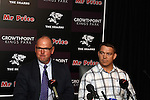 DURBAN - 7 October 2013 - Former Springbok coach Jake White fields questions from the press moments after Sharkes chief executive John Smit (right) had announced at a press conference that White (left) will coach the Sharks. White was the coach of the Springbok team that won the 2007 World Cup. Smit was that team's captain. Picture: Allied Picture Press/APP
